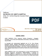 PRESENTACION COMERCIAL ASSO JURIDICA - PROPUESTA ELABORACION UN (1) ESTUDIO DE TITULOS