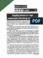 Abante, Feb. 17, 2020, Dagdag bonus sa mga empleyado isinulong sa Kamara.pdf