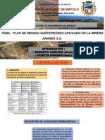 PLANEAMIENTO DE MINADO MINERA ANANEA