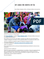 ORGANIZACION DE SIMULACROS ESCOLARES