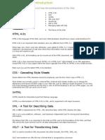 Web Building Introduction