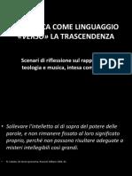 Prof.ssa Caneva-LA MUSICA COME LINGUAGGIO VERSO LA TRASCENDENZA