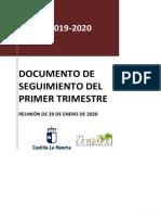 DOCUMENTO SEGUIMIENTO PRIMER TRIMESTRE 19-20