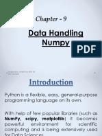 Chapter - 9 Data Handling NumPy