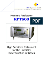HTS Systeme - RPT600 English manual