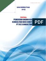 Proposal Pendirian Kantor Konsultaan PT XYZ Consulting draft