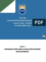 cloud Applicationdevelopment