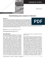 Breastfeeding Policy Analysis in Indonesia