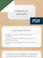 11 PHILO - 1. Definition of philosophy