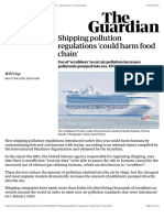 Shipping pollution regulations 'could harm food chain' | Environment | The Guardian