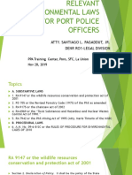 RELEVANT ENVIRONMENTAL LAWS FOR PORT POLICE OFFICERS