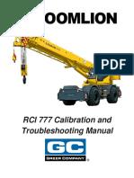 ZoomLion RCI777 Service