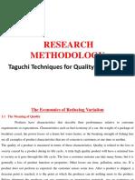 Taguchi Techniques - Dr.Suman kant