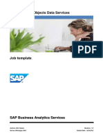 SAP DS Job template