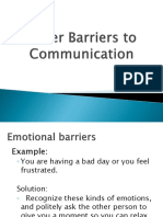 Other Barriers to Communication