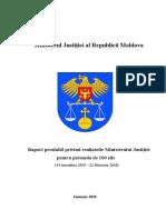 """Ministrul Justiției, Fadei Nagacevschi, a prezentat raportul prealabil despre realizările din primele """"100 de zile de activitate"""""""