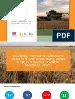 INTA Córdoba y Bolsa de Cereales de Córdoba - Monitoreo de Trigo 2019/20