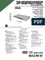 Sony Dvp-ns50 Ns41 Ns52 Sm