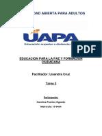 TAREA 5 EDUCACIÓN PARA LA PAZ