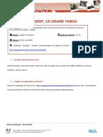Le tabou les français et l'argent