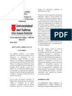 ENSAYO  EDUCACION AMBIENTAL EN COLOMBIA