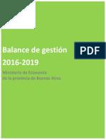 Balance de Gestión 2016-2019 - Ministerio de Economía PBA