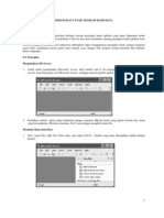 Manajemen Basis Data (Acces) - Perangkat Lunak Aplikasi Basis Data