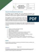Guía Para La Evaluación de Las Aplicaciones.
