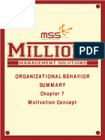 ORGANIZATIONAL BEHAVIOR SUMMARY Chapter 7 Motivation Concept