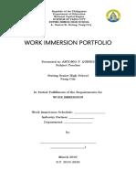 Portfolio in Work Immerssion