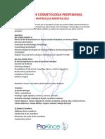 COSMETOLOGIA PROFESIONAL