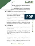 Reglamento - A La Voz Del Carnaval 2020
