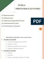 Tema 8. Operaţii pe prestomace şi stomac