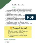 Mengidentifikasi Teks Prosedur