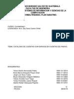 CATALOGO DE CUENTAS contables