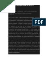 MODELO ESCRITO REVISIÓN DE MEDIDAS