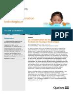 Bulletin d'information toxicologique
