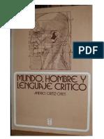 Mundo hombre y lenguaje critico Andrés Ortiz-Osés