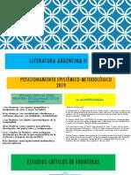 LITERATURA ARGENTINA - PPOINT PRESENTACIÓN TEÓRICA