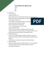 MÉTODO ORÁTICO DE LIBRO DE JOB