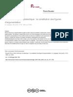 Boudon, Pierre - Entre rhetorique et dialectique