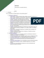 Compuesto quimicos y clasificación