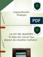 CAPACITACION PROFESORES THATQUIZ