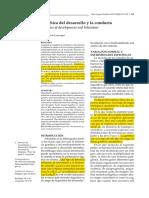 Genetica del desarrollo y la conducta
