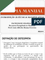 Aula 4 - Introdução a terapia manual