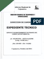 Exp tec Mant Rutinario Camino La Asuncion-Vista Alegre