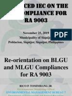 Orientation on BLGU and MLGU Compliances for RA.pptx