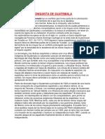 CONQUISTA DE GUATEMALA