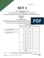 MATEMATIK  K2 (SET 1) - SABK & SMKA Kedah 2019
