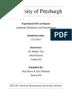 Amplitude modulation lab report